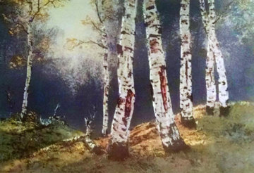 Birch Trees Limited Edition Print by Huertas Aguiar