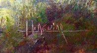 Saguaro Cactus, Pima Indian Reservation 1985 31x36 Original Painting by Huertas Aguiar - 1