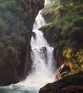 Water Magic 1986 60x50 Original Painting - Bill Hughes
