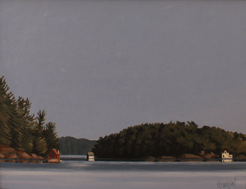 Calm Morning, Muskoka 20x24 Original Painting - Hugh  Thompson