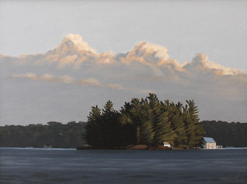 Island, Lake Rosseau 24x30 Original Painting - Hugh  Thompson