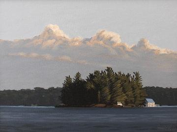 Island, Lake Rosseau 24x30 Original Painting by Hugh  Thompson