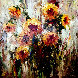 Setting Sunflowers 2007 44x44 Original Painting by Peter Hulsey - 0
