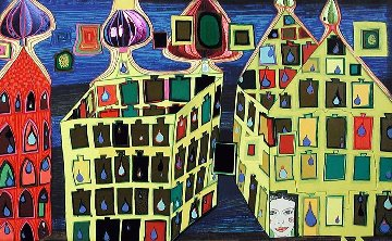 It Hurts to Wait With Love If Love is Somewhere Else Or Mit Der Liebe   Warten Tut Weh 1 Limited Edition Print - Friedensreich S. Hundertwasser