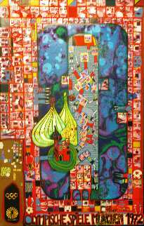 Olympic Red 1972 Limited Edition Print - Friedensreich S. Hundertwasser
