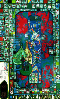 Olympic Games Munich, 1971 HS Limited Edition Print - Friedensreich S. Hundertwasser