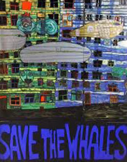 Save the Whales Poster Limited Edition Print - Friedensreich S. Hundertwasser