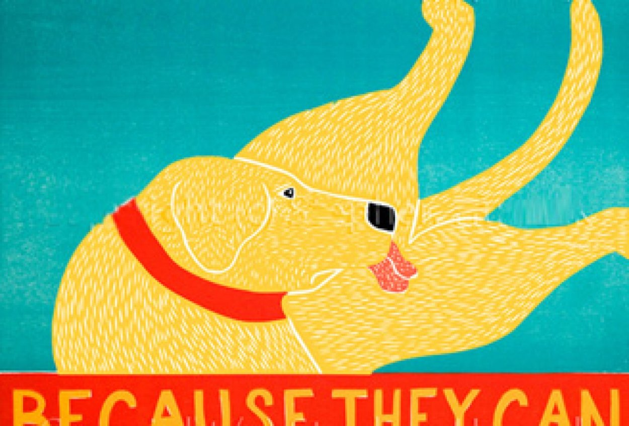 Because They Can 1997 Limited Edition Print by Stephen Huneck