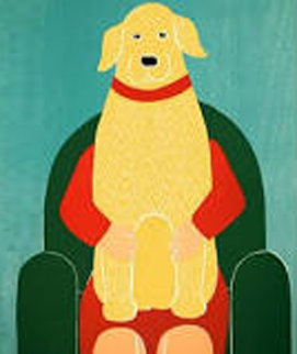 Lap Dog 1997 Limited Edition Print - Stephen Huneck
