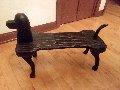 Untitled Unique Dog Bench 2000 Unique Sculpture 21x14 Sculpture - Stephen Huneck
