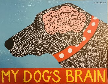 My Dog's Brain, and True Love Set of 2  Limited Edition Print - Stephen Huneck
