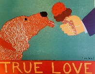 My Dog's Brain, and True Love Set of 2  Limited Edition Print by Stephen Huneck - 1