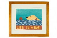 Life is a Ball - Yellow Lab 1997 Limited Edition Print by Stephen Huneck - 1