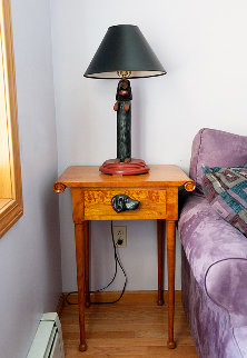 Side Table and Resin Lamp Other - Stephen Huneck