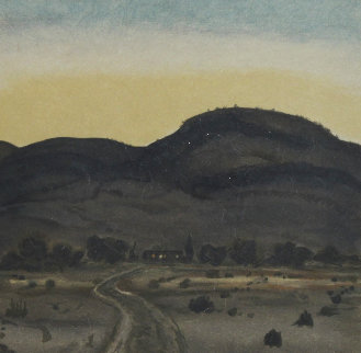 A Ranch At Dawn AP Limited Edition Print by Peter Hurd