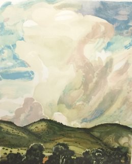 A Surging Cumulus AP  Limited Edition Print by Peter Hurd