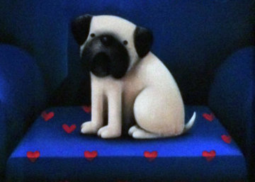 Pug of Love Pastel 2013 28x23 Original Painting - Doug Hyde