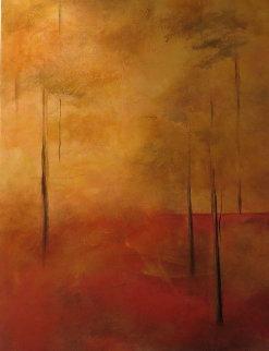 Sunlight Forest 48x24 Original Painting - Nancy Iannitelli