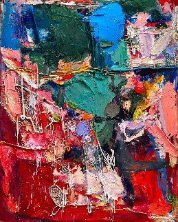 Busy Hours 3-D Mixed Media 2015 62x50 Original Painting - Costel Iarca