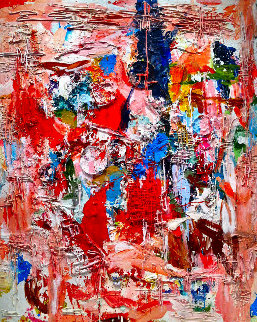 Poetic Times 3-D Mixed Media 2010 74x62 Super Huge Original Painting - Costel Iarca