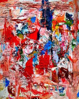 Poetic Times 3-D Mixed Media 2010 74x62 Super Huge Original Painting - Costel Iarca