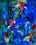 Mythic Figure 3-D Mixed Media 2010 62x50 Original Painting - Costel Iarca