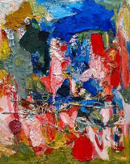 Across the Skies 3-D 2010 62x50 Huge Original Painting - Costel Iarca