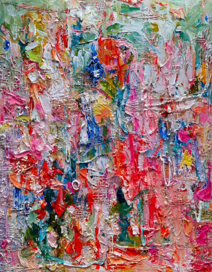 Heel Marks 3-D Mixed Media 2013 72x62 Huge Original Painting by Costel Iarca