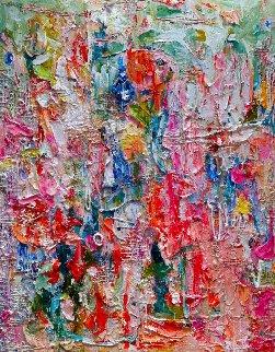 Heel Marks 3-D Mixed Media 2013 72x62 Huge Original Painting - Costel Iarca