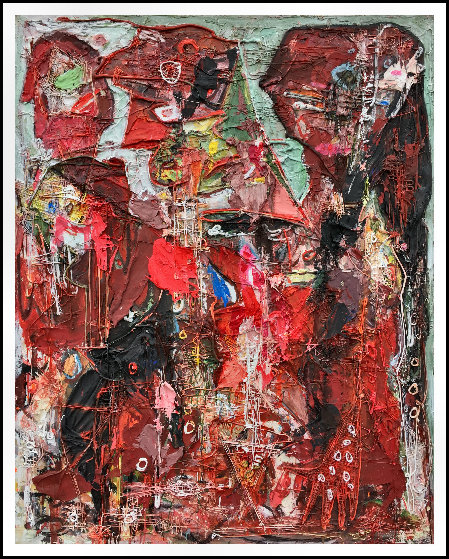 Emotions of Characters 3-D 2010 62x50 Original Painting by Costel Iarca