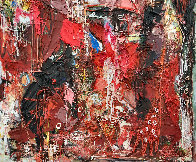 Emotions of Characters 3-D 2010 62x50 Super Huge Original Painting by Costel Iarca - 3