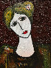 Lady With Dove Mixed Media 3-D 2014 62x50 Original Painting by Costel Iarca - 3