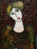 Lady With Dove Mixed Media 3-D 2014 62x50 Original Painting by Costel Iarca - 4