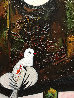 Lady With Dove Mixed Media 3-D 2014 62x50 Original Painting by Costel Iarca - 7