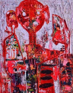 Happy End 3-D Mixed Media 2013 62x50 Original Painting - Costel Iarca