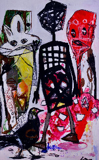 Free Time 2016 102x81 Mural Original Painting by Costel Iarca