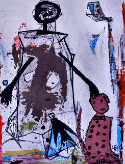 Life Long Dream 2016 86x67 Huge Original Painting - Costel Iarca