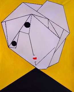 Woman in Yellow 2017 62x50 Original Painting by Costel Iarca
