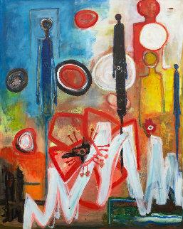 Very Far 2017 62x50 Original Painting by Costel Iarca
