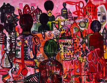 World in Society 2017 50x62 Huge Original Painting - Costel Iarca