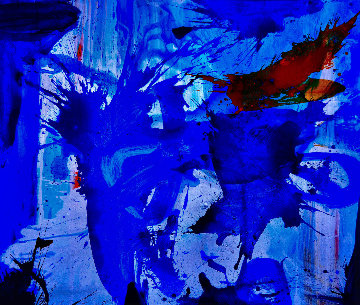 Hands Shake 2018 62x74 Huge Original Painting - Costel Iarca