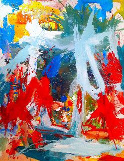 Cosmic Profile 2018 74x62 Super Huge Original Painting - Costel Iarca