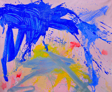 Bright Rainbow 2018 74x62 Huge Original Painting - Costel Iarca