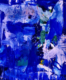 Blue Summer 2016 72x60 Super Huge Original Painting - Costel Iarca