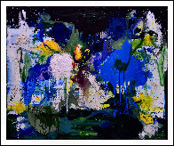 Summer in Blue 2017 72x60 Super Huge Original Painting by Costel Iarca - 1