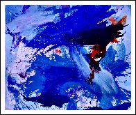 Blue Windows 2016 62x72 Super Huge Original Painting by Costel Iarca - 1