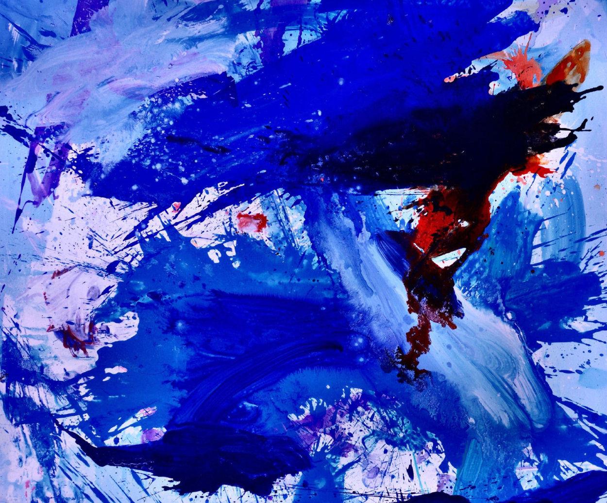 Blue Windows 2016 62x72 Super Huge Original Painting by Costel Iarca