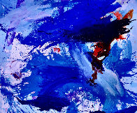 Blue Windows 2016 62x72 Super Huge Original Painting by Costel Iarca - 0