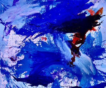 Blue Windows 2016 62x72 Super Huge Original Painting - Costel Iarca