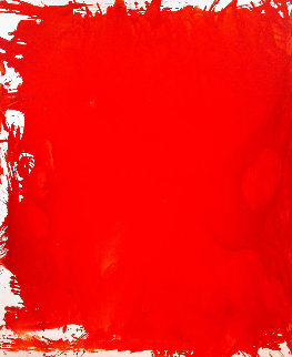 Red Number 1 2017 74x62 Super Huge Original Painting - Costel Iarca